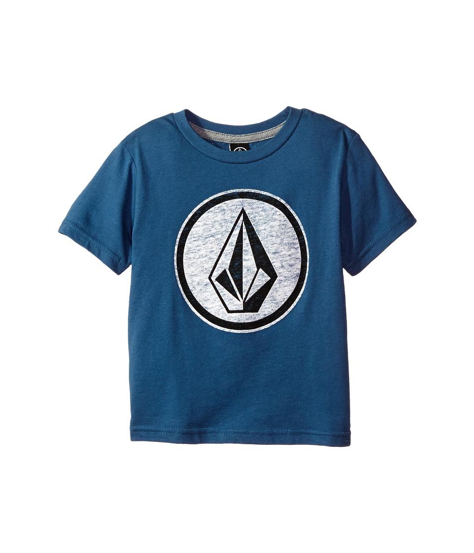 Volcom Kids Classic Stone Short Sleeve (Toddler/Little Kids) (Blue Smoke) Boy