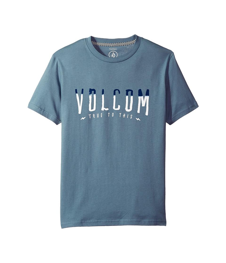 Volcom Kids T Mark Short Sleeve (Big Kids) (Ash Blue) Boy