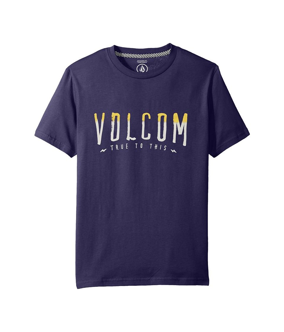 Volcom Kids T Mark Short Sleeve (Big Kids) (Blue Plum) Boy