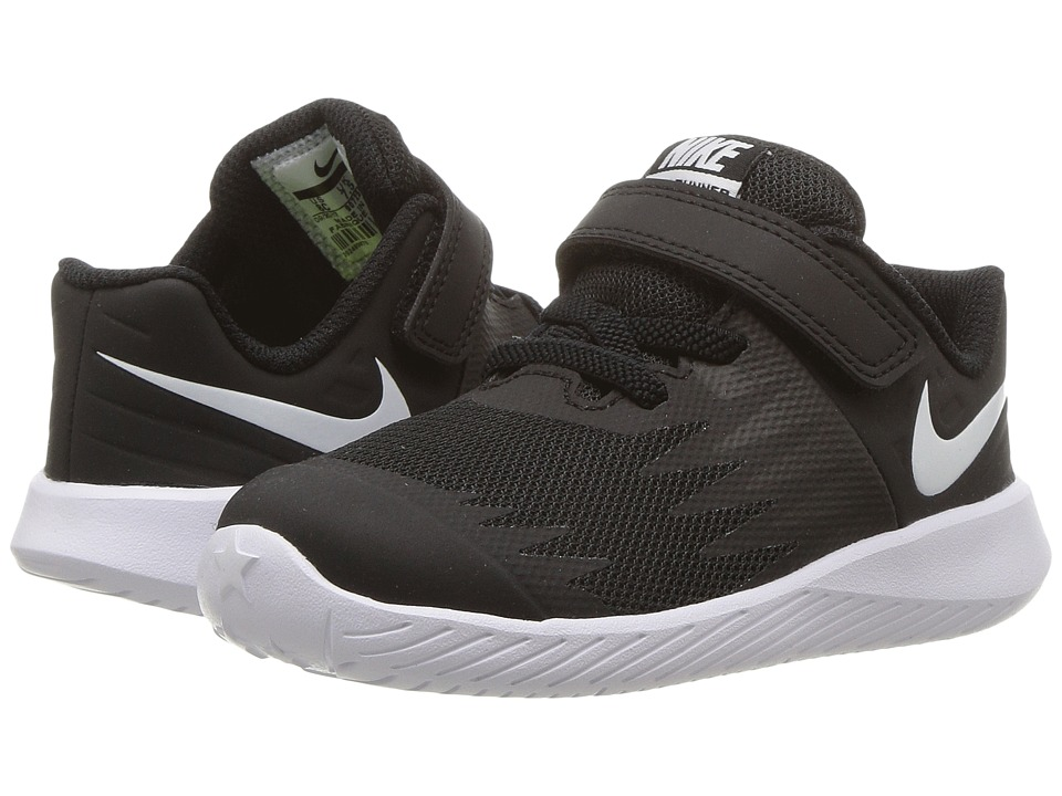 Nike Kids Star Runner (Infant/Toddler) (Black/White/Volt/Anthracite) Boys Shoes
