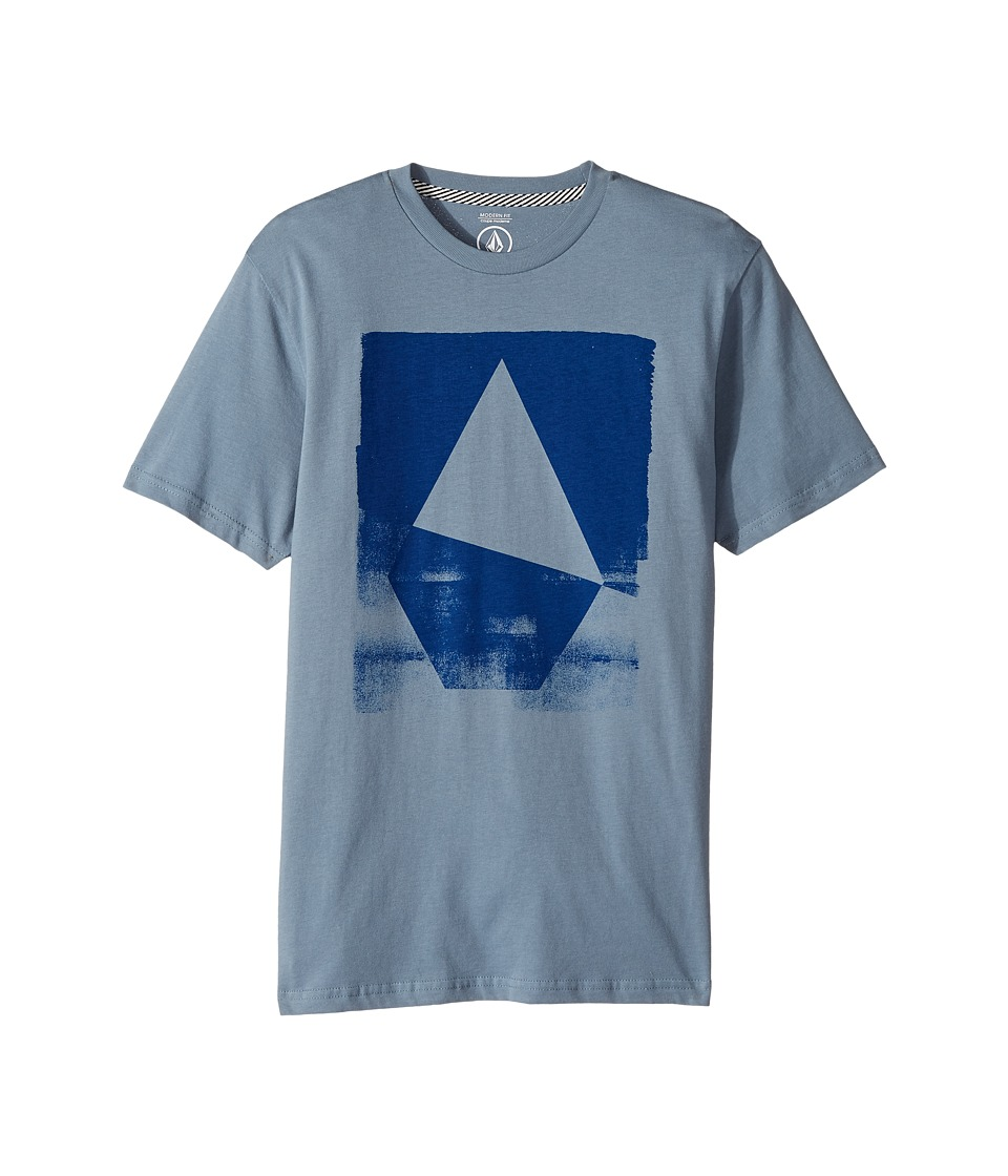 Volcom Kids Hand Geo Short Sleeve (Big Kids) (Ash Blue) Boy