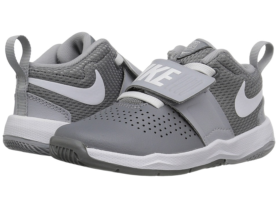 Nike Kids Team Hustle D8 (Infant/Toddler) (Cool Grey/Wolf Grey/White) Boys Shoes