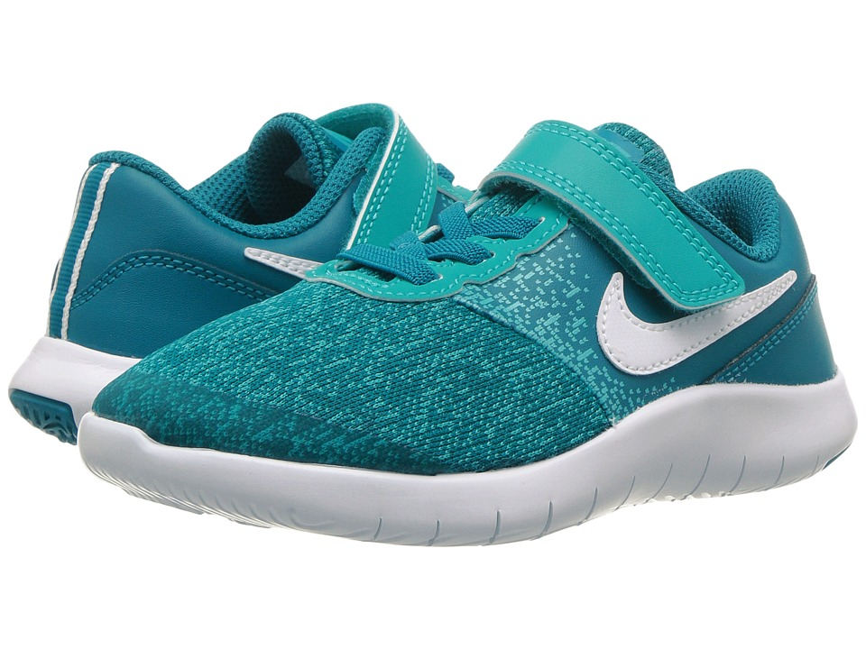 Nike Kids Flex Contact PSV (Little Kid) (Blustery/White/Turbo Green) Girls Shoes