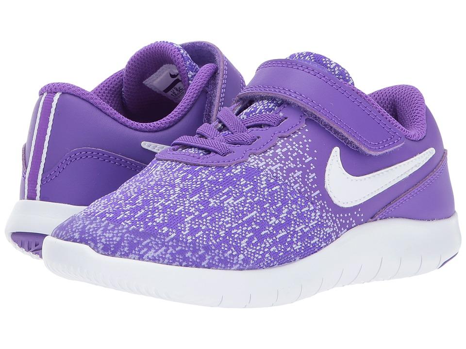 Nike Kids Flex Contact PSV (Little Kid) (Hyper Grape/White/Purple Agate) Girls Shoes