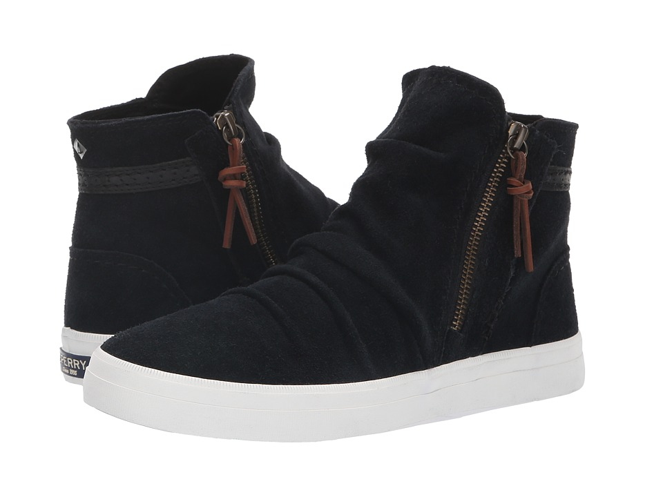 Sperry Crest Zone Waterproof Suede (Black) Women