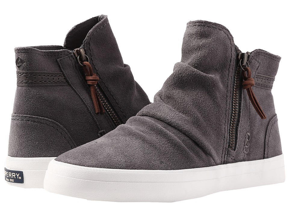 Sperry Crest Zone Waterproof Suede (Dark Grey) Women