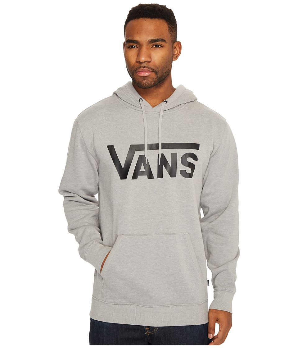 Vans - Vans Classic Pullover Hoodie (Cement Heather/Black) Mens Sweatshirt