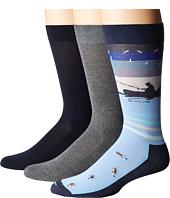 HUE - Fishing Socks with Half Cushion 3-Pack