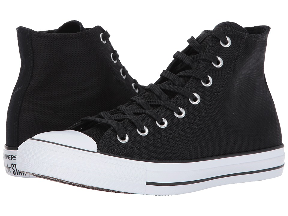 Converse Chuck Taylor All Star Hi (Black/Black/White) Classic Shoes
