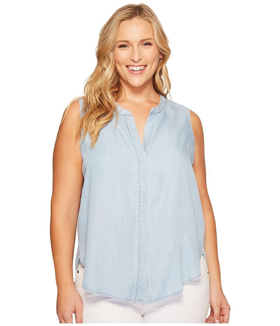 B Collection by Bobeau Curvy - Plus Size Fiona Button Back Shirt