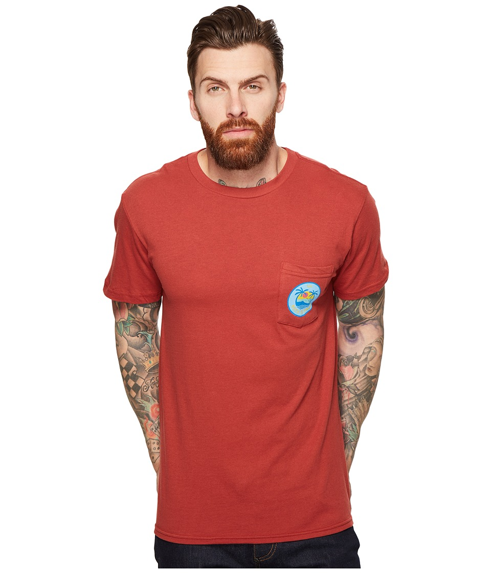 RVCA Island Pocket Tee (Rosewood) Men