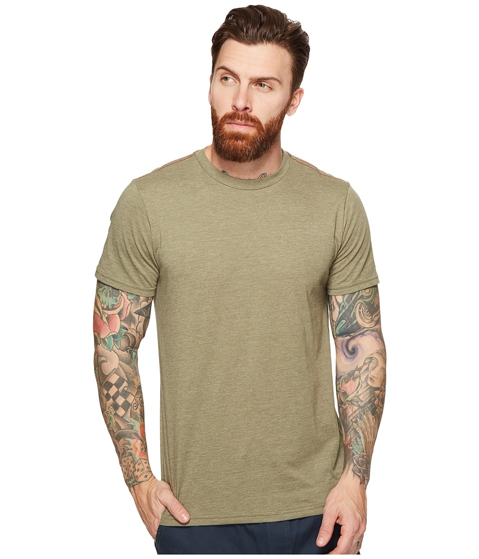 RVCA Label Vintage Dye Tee (Fatigue) Men
