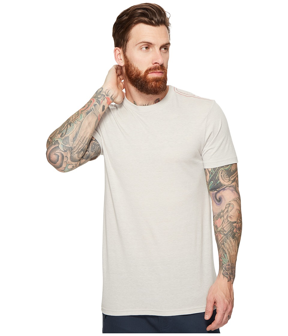 RVCA Label Vintage Dye Tee (Warm Grey) Men