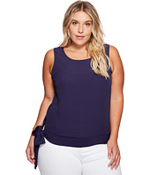 B Collection by Bobeau Curvy - Plus Size Marlowe Woven Blouse with Side Tie