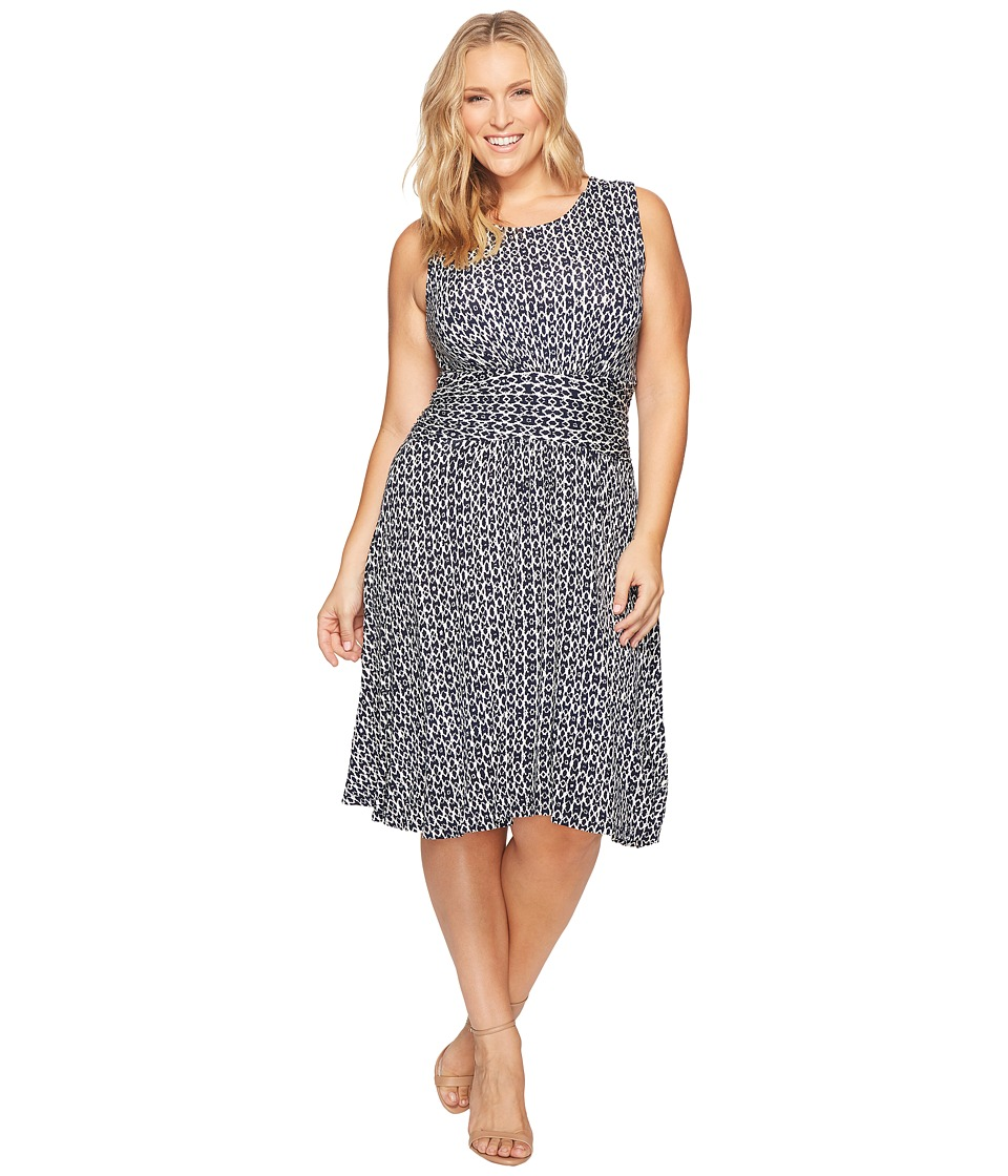 B Collection by Bobeau - Plus Size Knit Fit Flare Dress