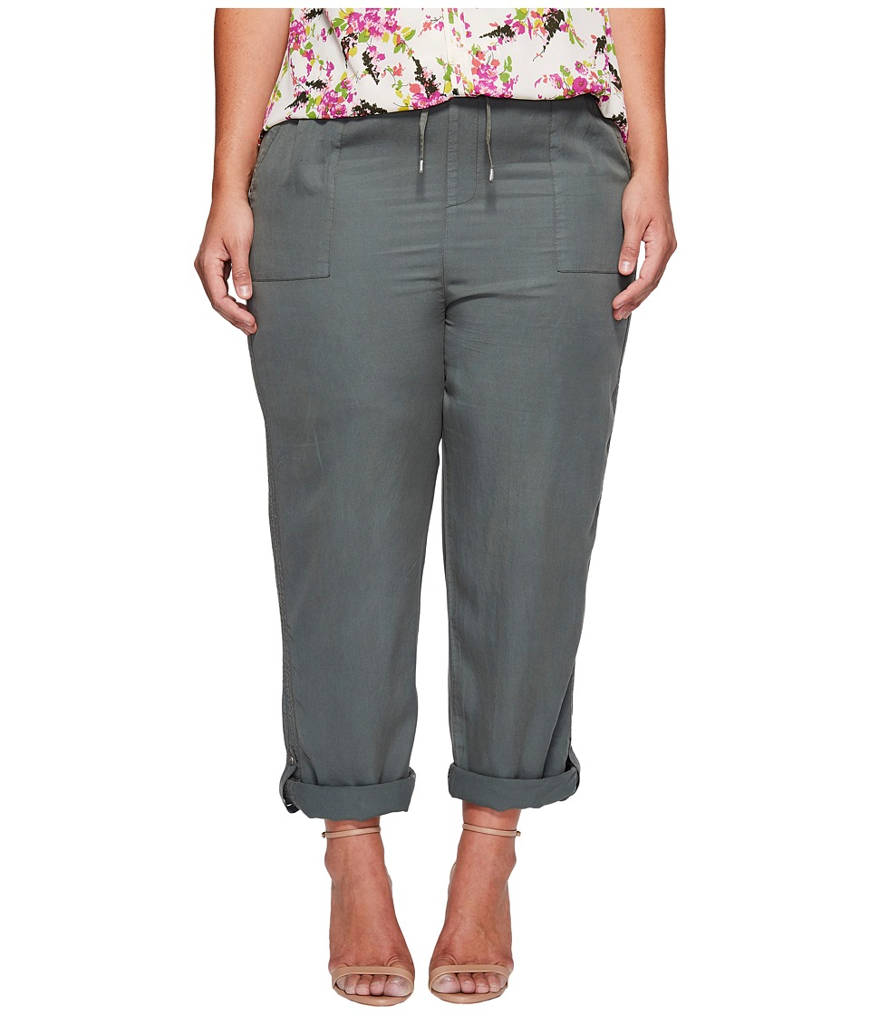 B Collection by Bobeau Curvy - Plus Size Magnolia Rolled Tab Crop Pants