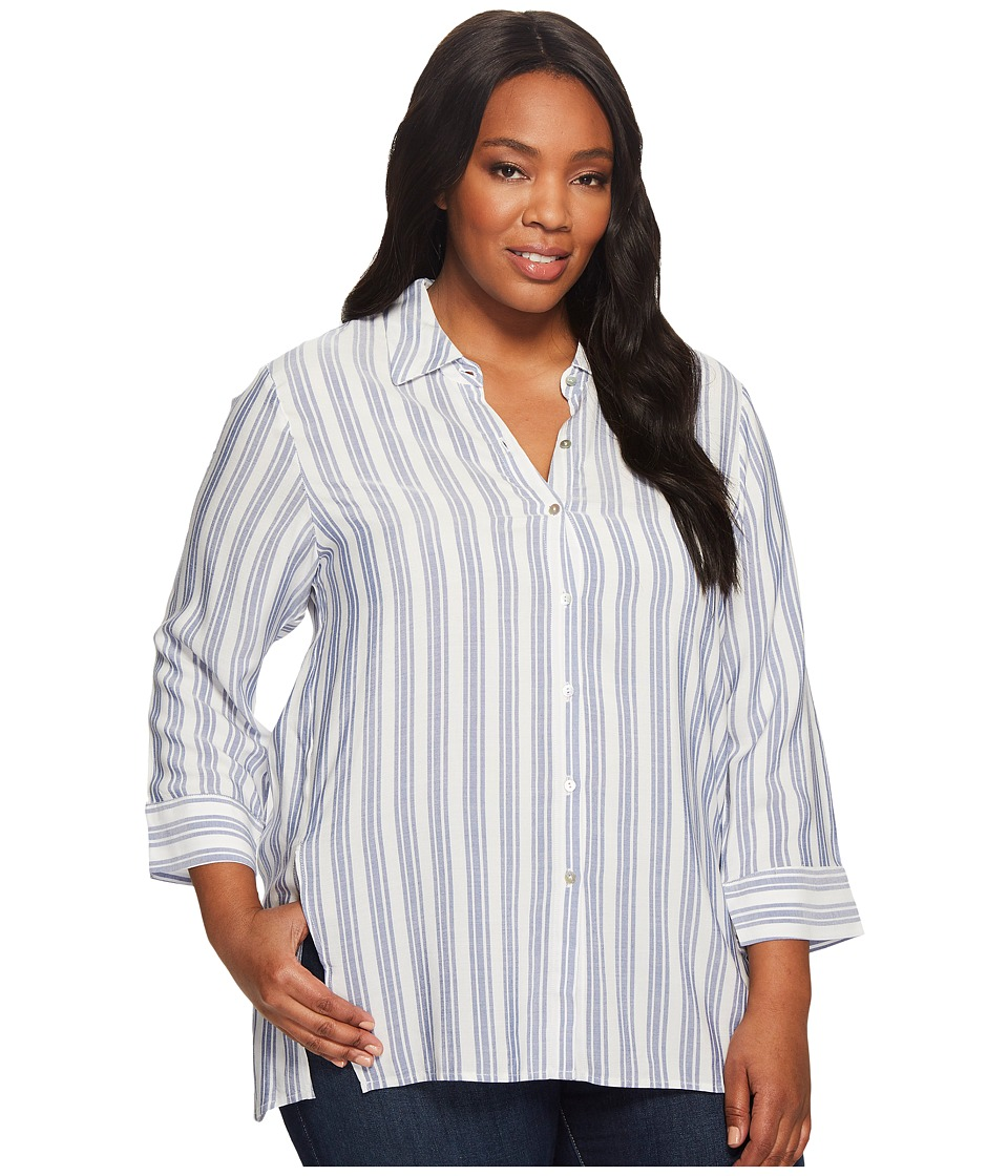 B Collection by Bobeau - Plus Size Button Front Shirt