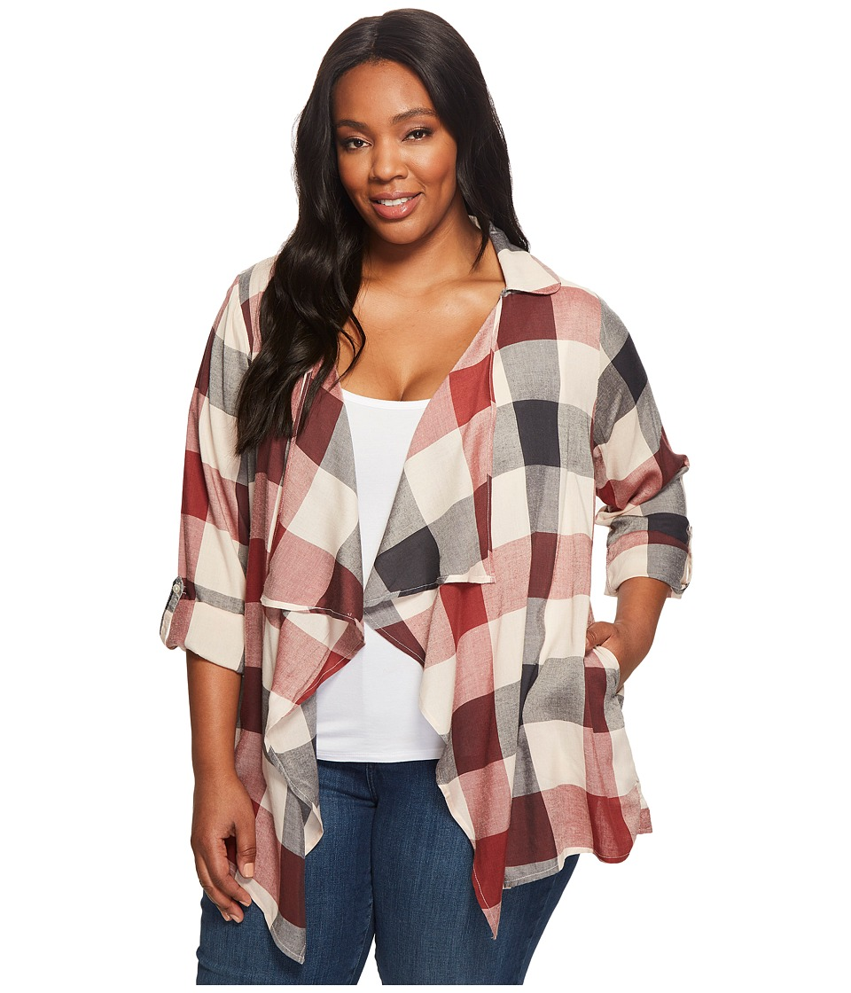 B Collection by Bobeau Curvy - Plus Size Cropped Trench