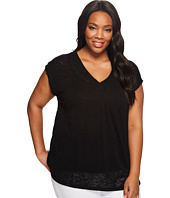 B Collection by Bobeau Curvy - Plus Size Janet Front Pleat T-Shirt