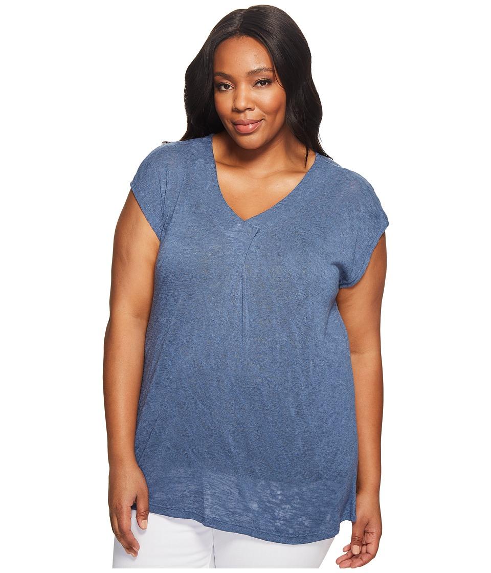 B Collection by Bobeau Curvy - Plus Size Janet Front Pleat T-Shirt