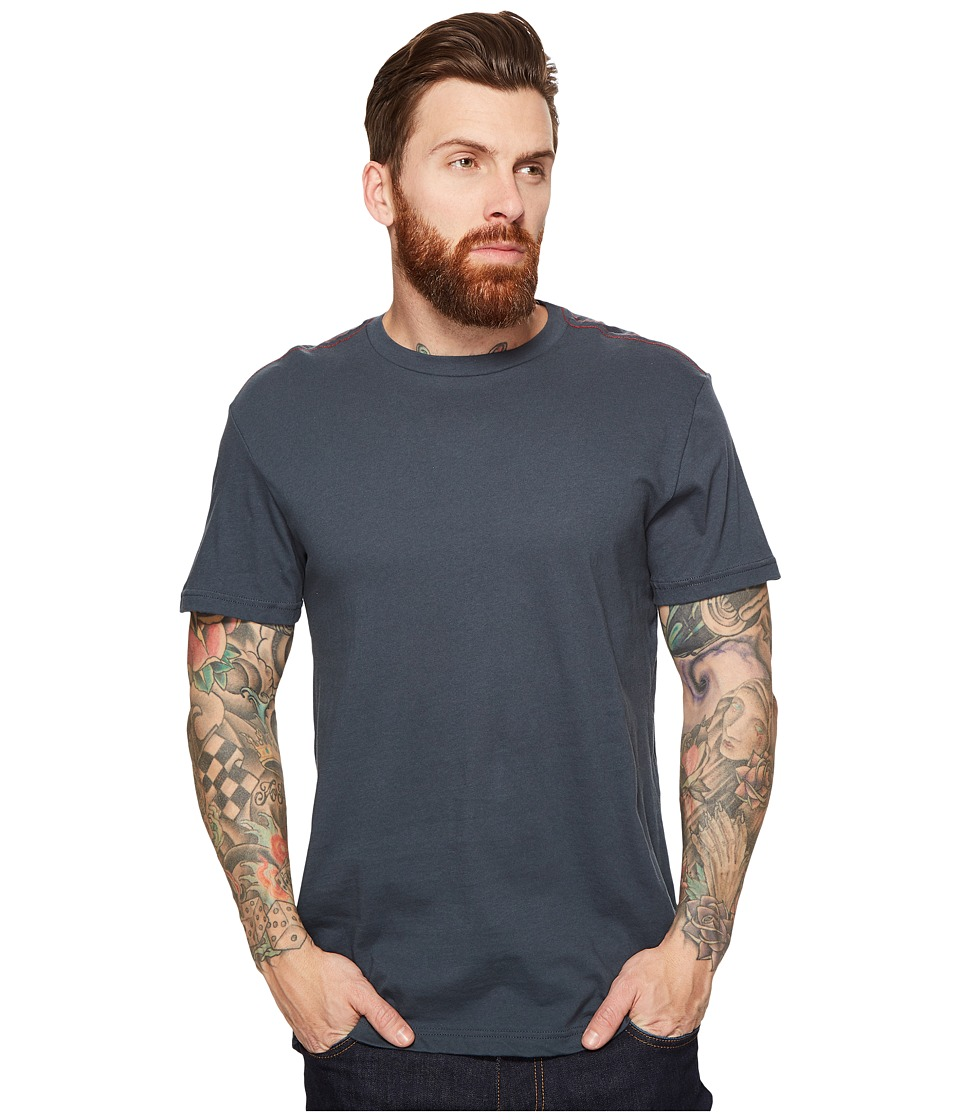 RVCA Label Vintage Wash Tee (Midnight) Men