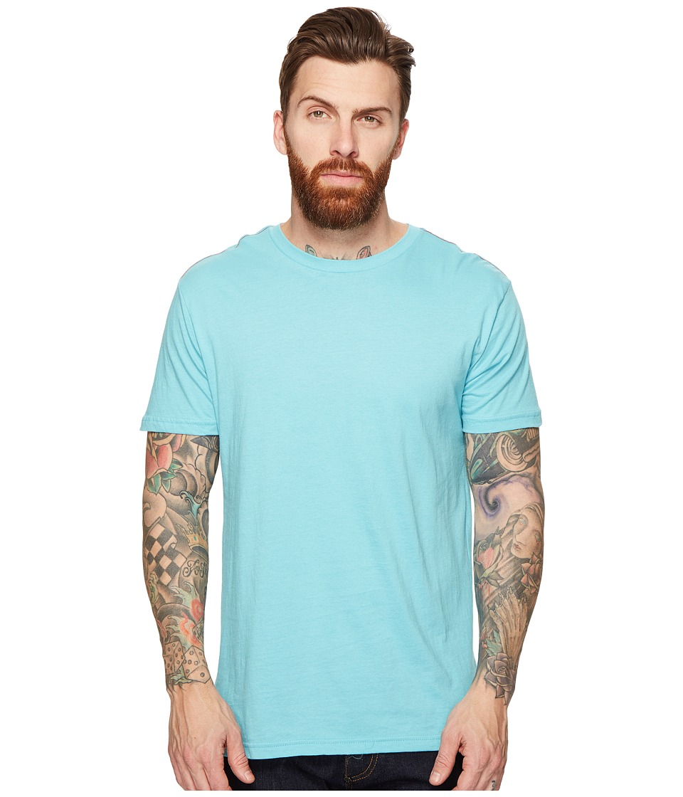 RVCA Label Vintage Wash Tee (Maui Blue) Men