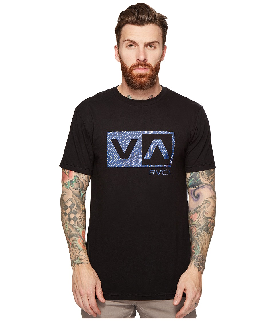RVCA Warped Dotty Tee (Black) Men