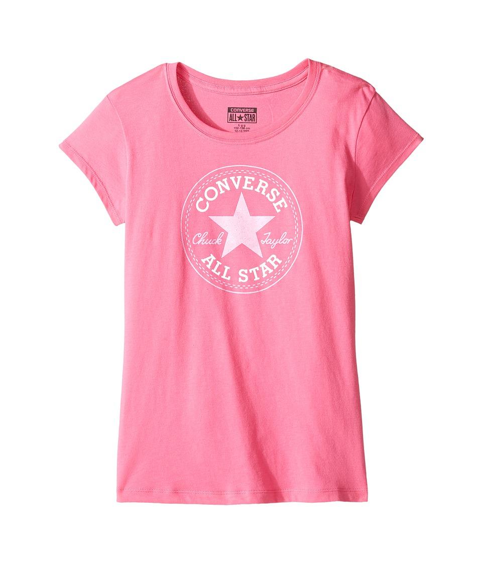 Converse Kids Short Sleeve All Star Tee (Big Kids) (Mod Pink) Girl