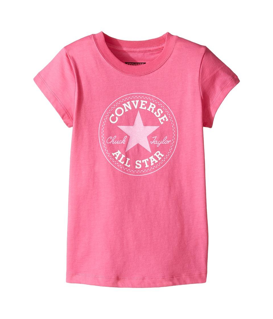 Converse Kids Short Sleeve All Star Tee (Toddler/Little Kids) (Mod Pink) Girl