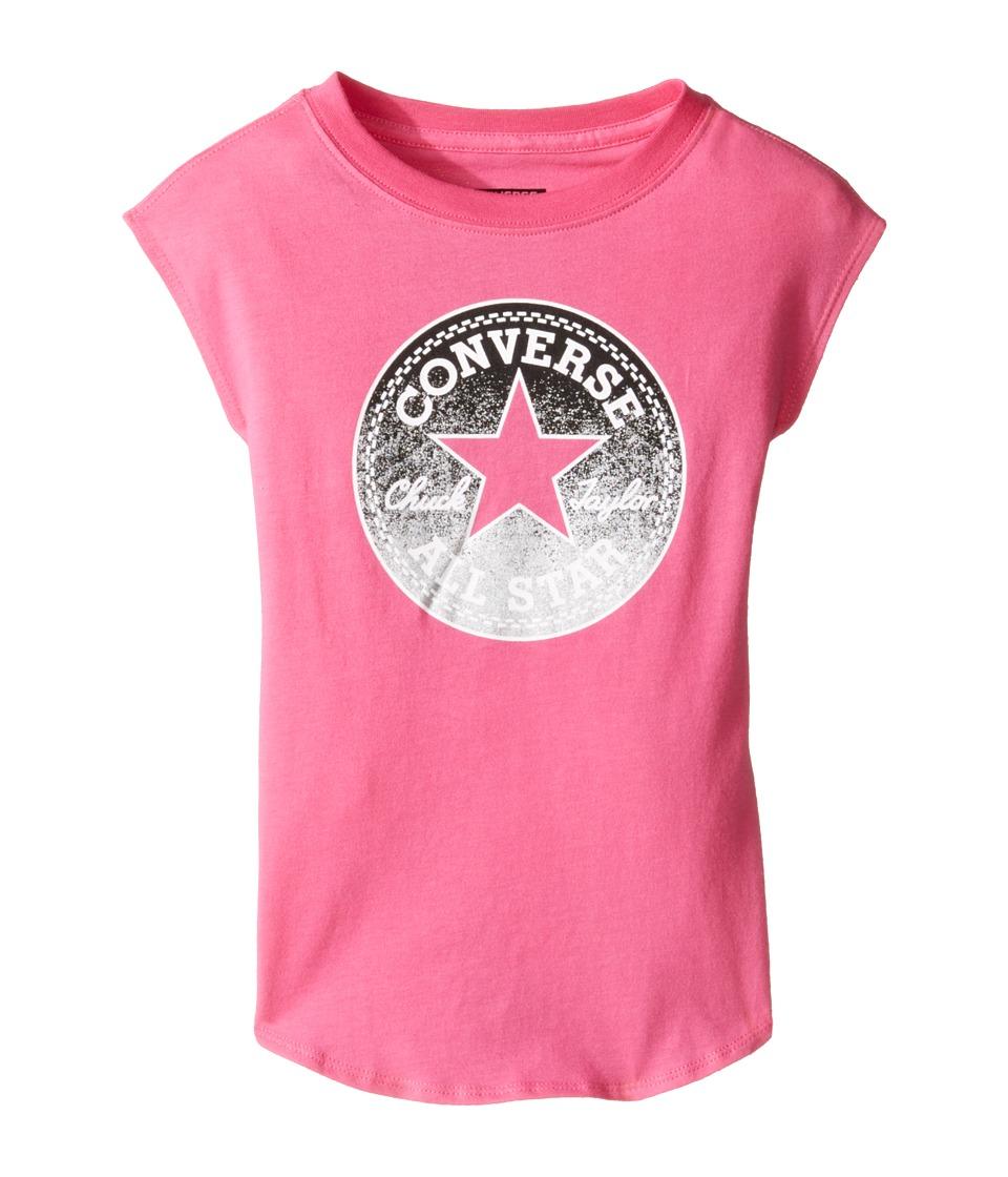 Converse Kids Dropped Shoulder Tee (Toddler/Little Kids) (Mod Pink) Girl
