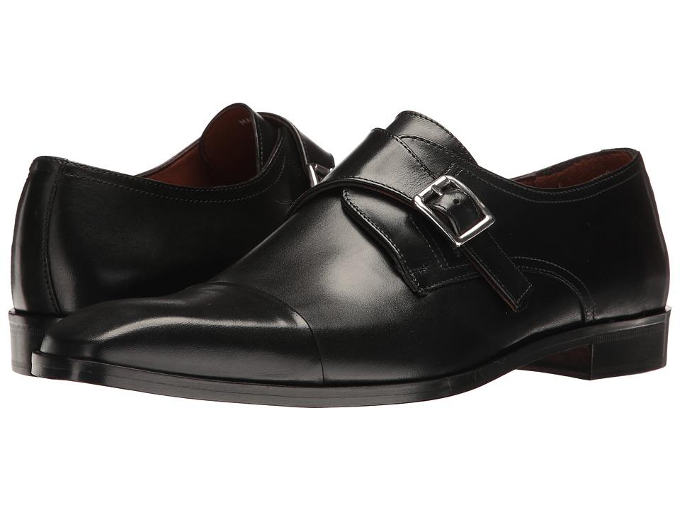 60s Mens Shoes | 70s Mens shoes – Platforms, Boots Massimo Matteo - Single Monk Cap Toe Black Mens Shoes $165.00 AT vintagedancer.com