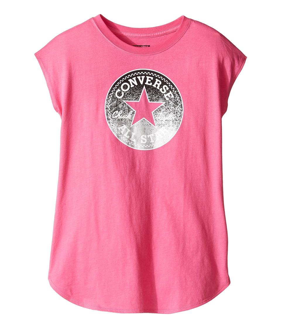 Converse Kids Dropped Shoulder Tee (Big Kids) (Mod Pink) Girl