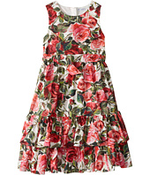 Dolce & Gabbana Kids - Floral Poplin Dress (Big Kids)