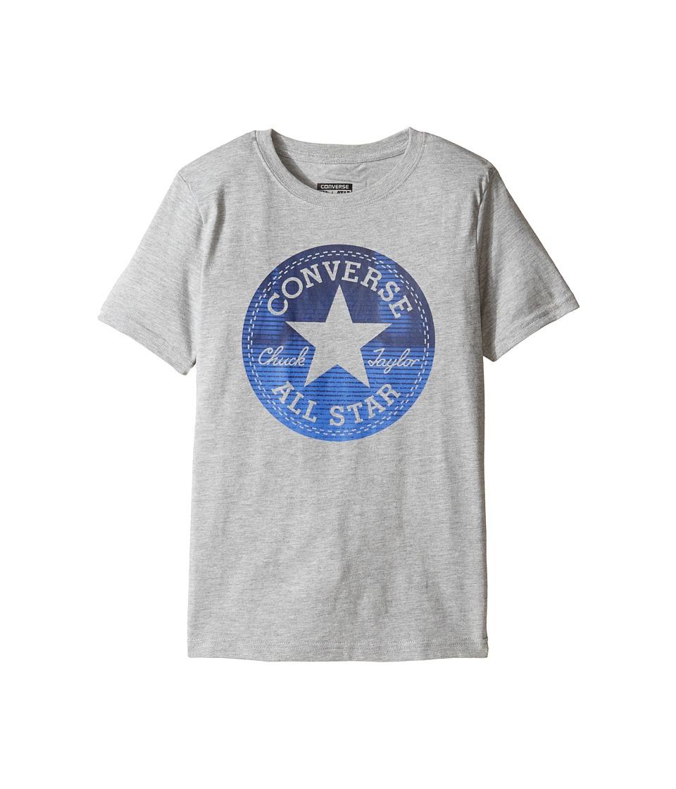 Converse Kids Chuck Fill Tee (Big Kids) (Vintage Grey Heather) Boy