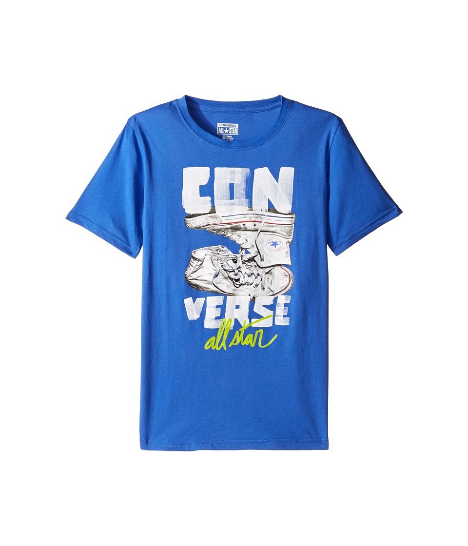 Converse Kids Stack Chucks Tee (Big Kids) (Oxygen Blue) Boy
