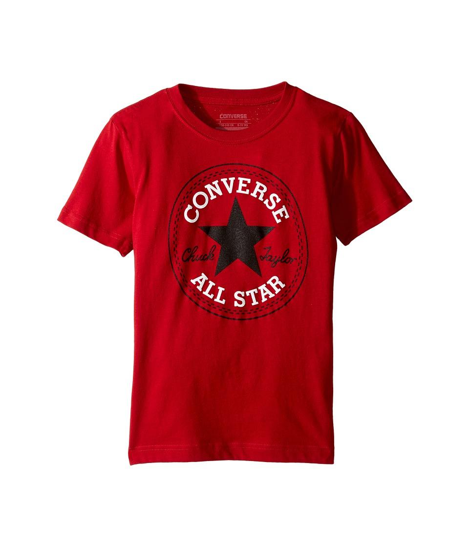 Converse Kids Snow Yarn Chuck Patch Tee (Big Kids) (Gym Red) Boy