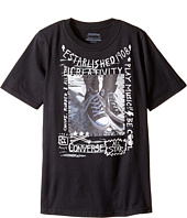 Converse Kids - Doodle Photo Chucks Tee (Big Kids)