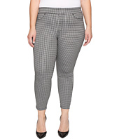 HUE - Plus Size Gingham Denim Skimmer