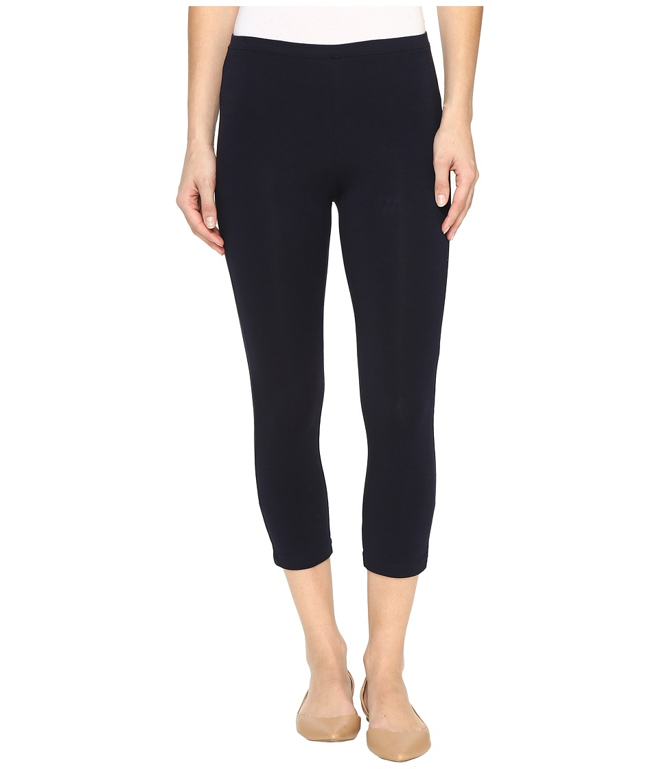 HUE Cotton Capri Legging (Navy) Women