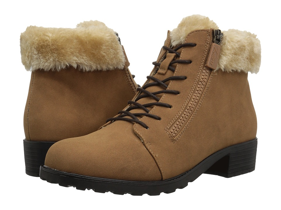 Trotters Below Zero Waterproof (Chestnut/Natural Nubuck PU Waterproof/Faux Fur)