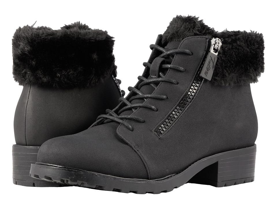 Trotters Below Zero (Black Nubuck PU Waterproof/Faux Fur) Women