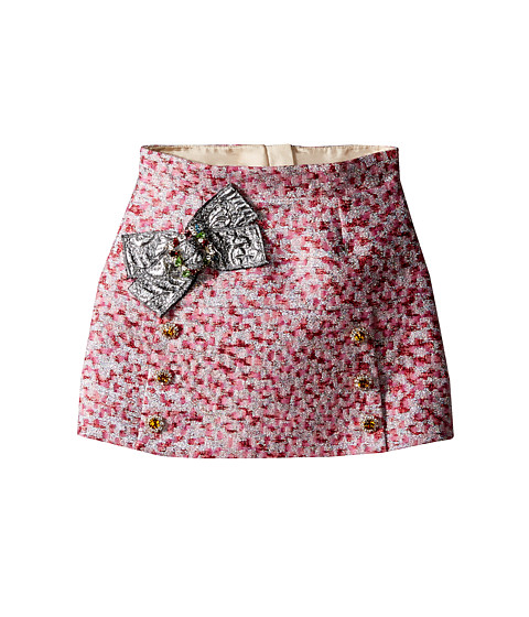 Dolce & Gabbana Kids Pink Jacquard Skirt (Toddler/Little Kids)