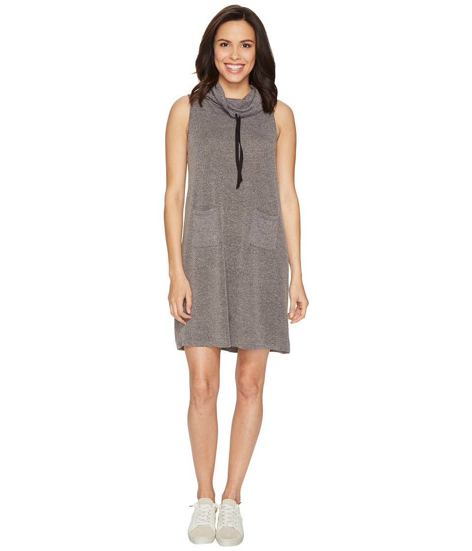 Culture Phit Collette Sleeveless Pocketed Cowl Neck Dress (Charcoal) Women