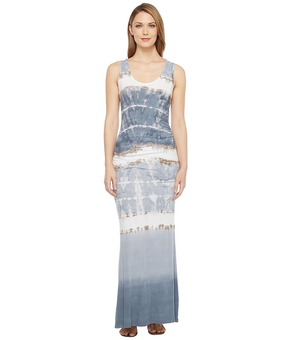 Culture Phit Beckett Sleeveless Tie-Dye Maxi Dress (Grey/Ivory) Women