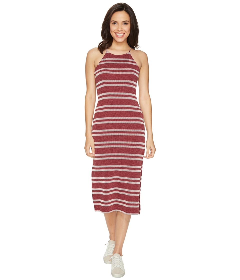 Culture Phit Indra Spaghetti Strap Striped Dress (Wine) Women