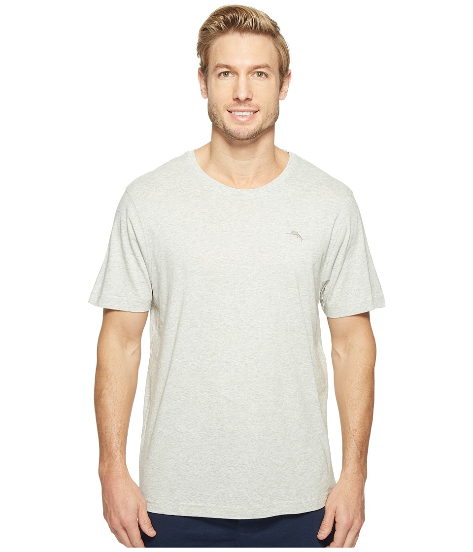 Tommy Bahama Basic Short Sleeve T-Shirt (Light Heather Grey) Men