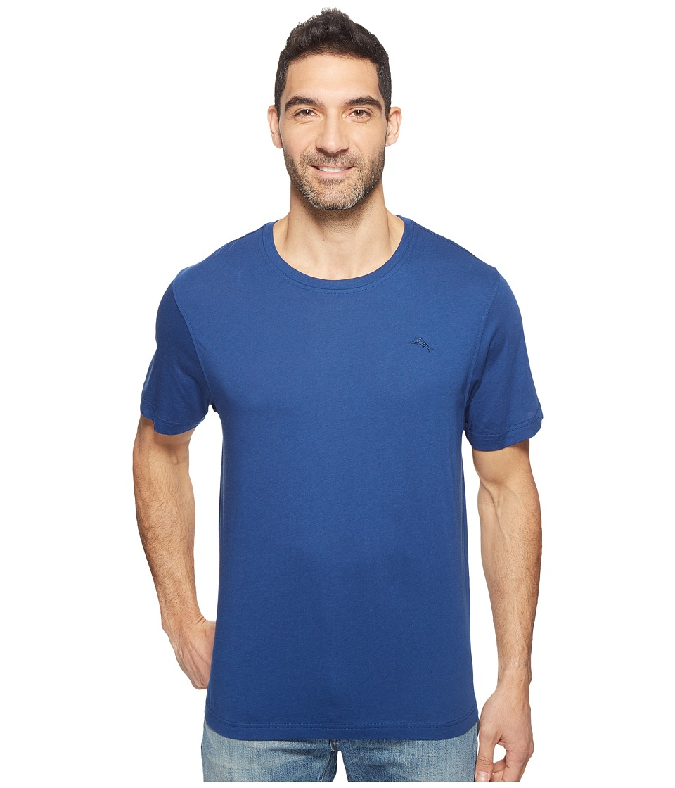 Tommy Bahama Basic Short Sleeve T-Shirt (Bering Blue) Men