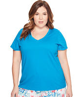 Jockey - Jockey Cotton Essentials Plus Size V-Neck Tee