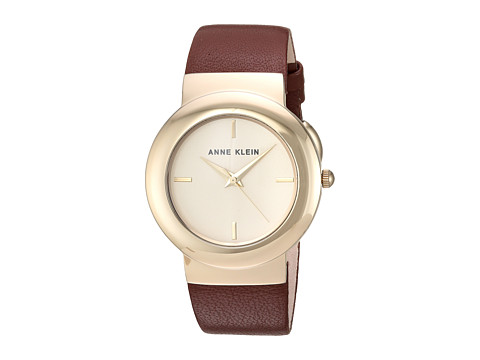 Anne Klein AK-2922CHBN - Brown/Gold-Tone