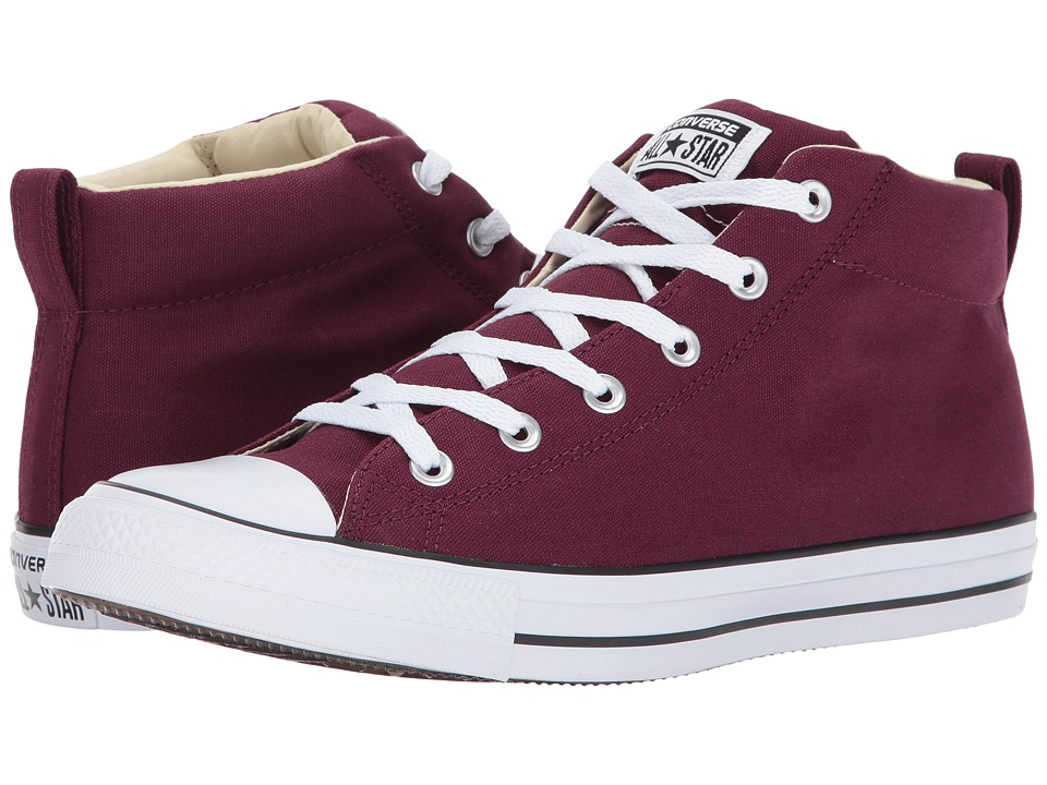 Converse Chuck Taylor All Star Street Mid (Dark Sangria/Black/White) Classic Shoes